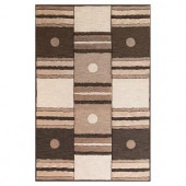 Kas Rugs Square is in Ivory/Mocha 3 ft. 3 in. x 5 ft. 3 in. Area Rug