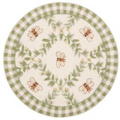 Safavieh Chelsea Ivory/Green 3 ft. x 3 ft. Round Area Rug
