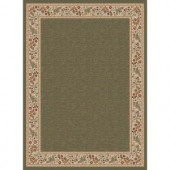 Tayse Rugs Sensation Green 5 ft. 3 in. x 7 ft. 3 in. Traditional Area Rug