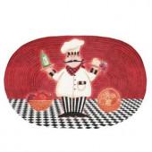 Chef Buono Appetito 20 in. x 30 in. Braided Rug