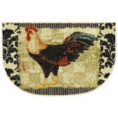 Mohawk Bergerac Rooster Neutral 18 in. x 30 in. Accent Slice Kitchen Rug