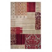 Home Decorators Collection Progressive Beige 3 ft. 6 in. x 5 ft. 6 in. Area Rug