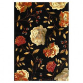 Kas Rugs Roses to Riches Black 2 ft. 7 in. x 4 ft. 1 in. Area Rug