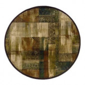 Eternity New Country Beige and Green 8 ft. Round Area Rug