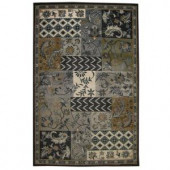 iCustom Rug Patchwork Midnight 3 ft. 2 in. x 5 ft. Area Rug