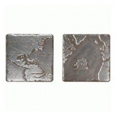 Daltile Metal Signatures 4-1/4 in. x 4-1/4 in. Iron Metal Rosette Decorative Wall Tile