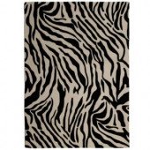 Lanart Zebra 4 ft. x 6 ft. Area Rug
