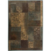 Rizzy Home Bellevue Brown Paisley 1 ft. 8 in. x 2 ft. 6 in. Area Rug