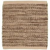 LR Resources Tribeca Beige 5 ft. x 7 ft. 9 in. Reversible Wool Dhurry Indoor Area Rug