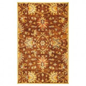 Kas Rugs Touch of Agra Mocha 3 ft. 3 in. x 5 ft. 3 in. Area Rug
