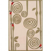 Momeni Caprice Collection Ivory 2 ft. x 3 ft. Area Rug