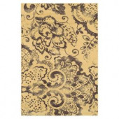 Lavish Home Mosaic Cream and Brown 5 ft. x 7 ft. 3 in. Area Rug