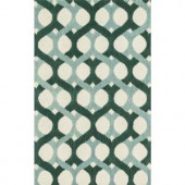 Loloi Rugs Weston Lifestyle Collection Blue Green 3 ft. 6 in. x 5 ft. 6 in. Area Rug