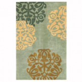 Home Decorators Collection Chadwick Lite Green and Gold 5 ft. x 8 ft. Area Rug