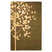 Home Decorators Collection Woodland Brown 5 ft. 3 in. x 8 ft. Area Rug