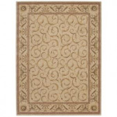 Nourison Rug Boutique Scrollwork Ivory 5 ft. 6 in. x 7 ft. 5 in. Area Rug