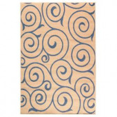 Home Decorators Collection Whirl Blue and Natural 5 ft. 10 in. x 9 ft. 2 in. Area Rug
