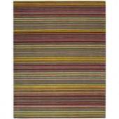 Nourison Rug Boutique Multi Stripe Multicolor 8 ft. x 11 ft. Area Rug