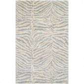 BASHIAN Greenwich Collection Safari Light Blue 5 ft. 6 in. x 8 ft. 6 in. Area Rug