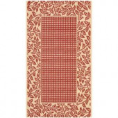 Safavieh Courtyard Red/Natural 2.6 ft. x 5 ft. Area Rug