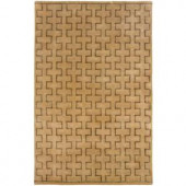 LR Resources Contemporary Natural Runner 2 ft. 5 in. x 7 ft. 9 in. Plush Indoor Area Rug
