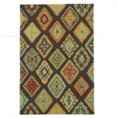 Loloi Rugs Olivia Life Style Collection Brown Multi 5 ft. x 7 ft. 6 in. Area Rug