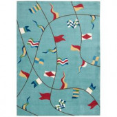 Nourison Shoreline Flags Ivory 5 ft. x 7 ft. Area Rug