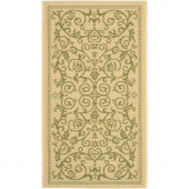 Safavieh Courtyard Natural/Olive 2.6 ft. x 5 ft. Area Rug