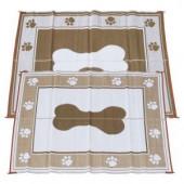 Fireside Patio Mats Doggy Chocolate 6 ft. x 9 ft. Polypropylene Indoor/Outdoor Reversible Patio/RV Mat