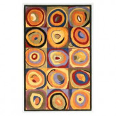 Kas Rugs Circle Abstract Multi 3 ft. 6 in. x 5 ft. 6 in. Area Rug