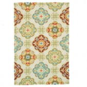Loloi Rugs Olivia Life Style Collection Ivory Sage 5 ft. x 7 ft. 6 in. Area Rug