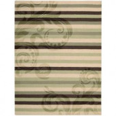 Nourison Rug Boutique Modern Paisley Green/Brown 8 ft. x 11 ft. Area Rug