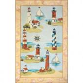 Momeni Coastal Lighthouse Hand-Hooked Multi 4 ft. x 6 ft. Area Rug