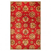 Kas Rugs In Style Kashan Red 3 ft. 3 in. x 5 ft. 3 in. Area Rug