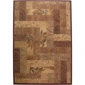 Rizzy Home Bellevue Collection Rust and Beige 1 ft. 8 in. 2 ft. 6 in. Area Rug