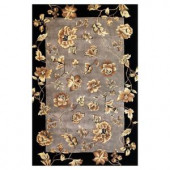Kas Rugs Majestic Floral Silver 3 ft. 3 in. x 5 ft. 3 in. Area Rug