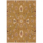 LR Resources Transitional Gold Runner 1 ft. 10 in. x 7 ft. 1 in. Plush Indoor Area Rug