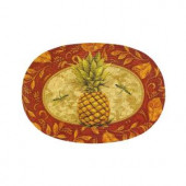 Golden Pineapple 20 in. x 30 in. Braided Rug