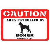 Bungalow Flooring Printed Caution: Boxer 17.5 in. x 26.5 in. Pet Mat