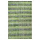 Kas Rugs Subtle Stripe Green/Ivory 3 ft. 3 in. x 5 ft. 3 in. Area Rug
