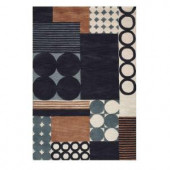 Home Decorators Collection Complex Blue 9 ft. 6 in. x 13 ft. 6 in. Area Rug