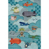Momeni Caprice Collection Sky 2 ft. x 3 ft. Area Rug