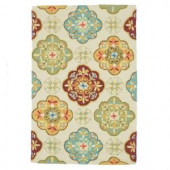 Loloi Rugs Olivia Life Style Collection Ivory Sage 3 ft. 6 in. x 5 ft. 6 in. Area Rug