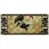 Mohawk Bergerac Rooster Neutral 20 in. x 45 in. Accent Kitchen Rug
