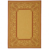 Safavieh Courtyard Natural/Red 2 ft. x 3 ft. 7 in. Area Rug