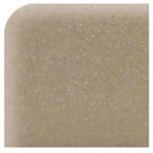 Daltile Semi-Gloss Elemental Tan 2 in. x 2 in. Ceramic Bullnose Corner Wall Tile