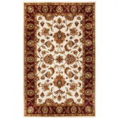 Kas Rugs Persian Mahal Ivory/Red 3 ft. 3 in. x 5 ft. 3 in. Area Rug