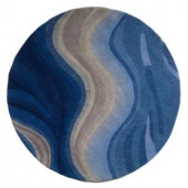 Home Decorators Collection Rush Blue 5 ft. 9 in. Round Area Rug