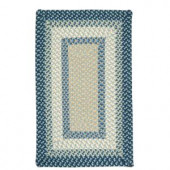 Colonial Mills Montego Blue Burst 8 ft. x 11 ft. Braided Are Rug