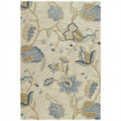 Kaleen Inspire Spectacle Blue 4 ft. x 6 ft. Area Rug